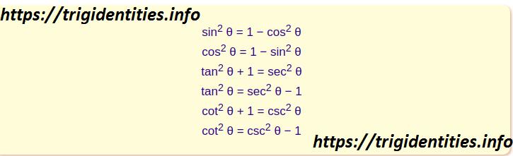 Pythagorean Trig Identities